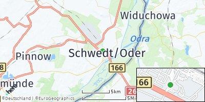 Google Map of Schwedt / Oder