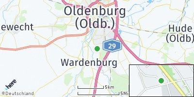 Google Map of Klein Bümmerstede