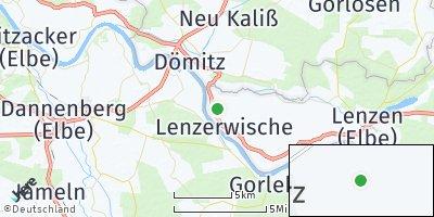 Google Map of Lenzerwische