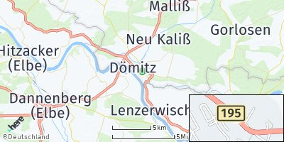 Google Map of Dömitz