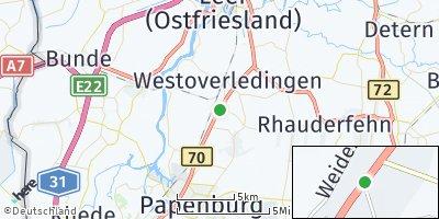 Google Map of Großwolderfeld