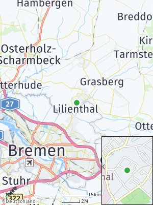 Here Map of Lilienthal bei Bremen