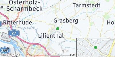 Google Map of Trupermoor bei Bremen