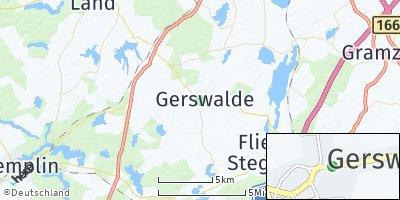 Google Map of Gerswalde