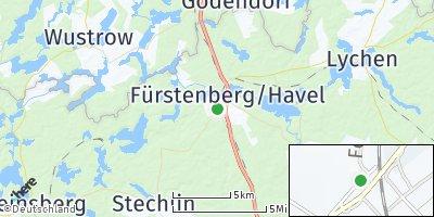 Google Map of Fürstenberg / Havel