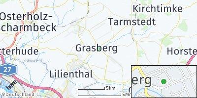 Google Map of Grasberg bei Bremen