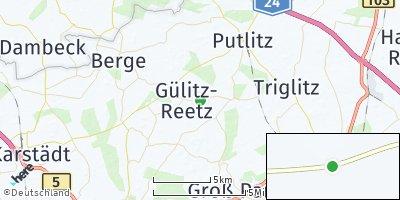 Google Map of Gülitz-Reetz