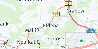 Google Map of Eldena an der Elde