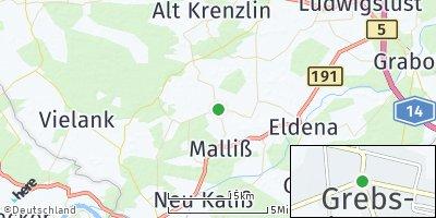 Google Map of Grebs-Niendorf