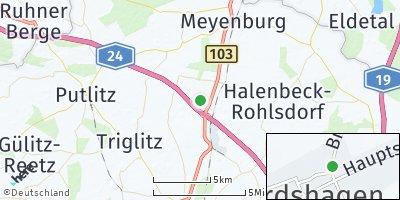 Google Map of Gerdshagen bei Pritzwalk