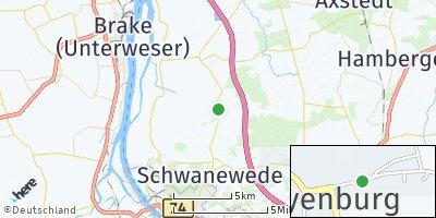 Google Map of Meyenburg bei Bremen
