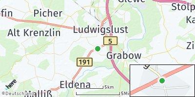 Google Map of Karstädt bei Ludwigslust