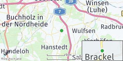 Google Map of Brackel bei Winsen
