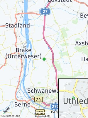 Here Map of Uthlede