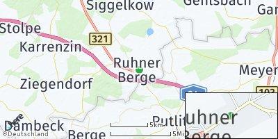 Google Map of Suckow bei Parchim
