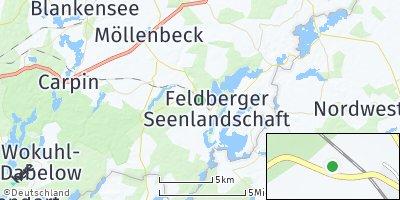 Google Map of Feldberger Seenlandschaft
