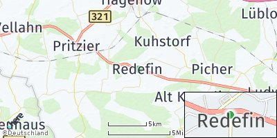 Google Map of Redefin