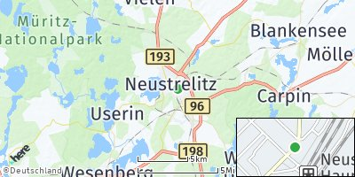 Google Map of Neustrelitz