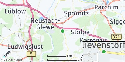 Google Map of Blievenstorf
