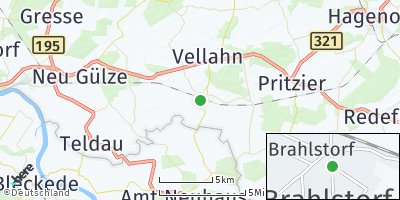 Google Map of Brahlstorf