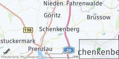 Google Map of Schenkenberg bei Prenzlau