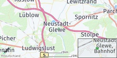 Google Map of Neustadt-Glewe