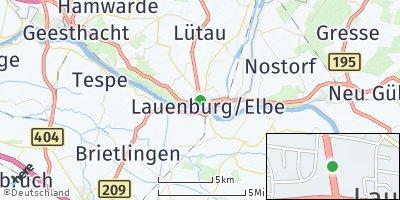 Google Map of Lauenburg / Elbe