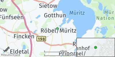 Google Map of Röbel / Müritz