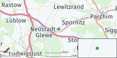 Google Map of Brenz bei Neustadt-Glewe