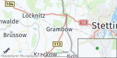 Google Map of Grambow bei Pasewalk