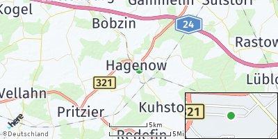 Google Map of Hagenow