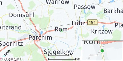 Google Map of Rom bei Parchim