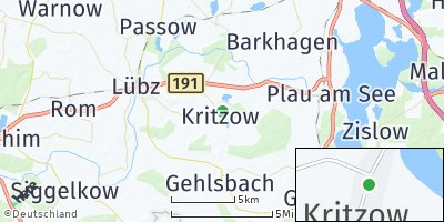 Google Map of Kritzow bei Lübz