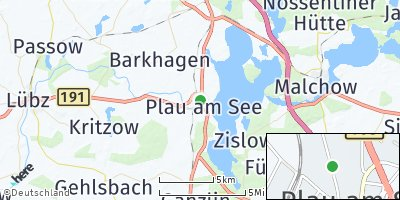 Google Map of Plau am See