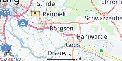 Google Map of Börnsen