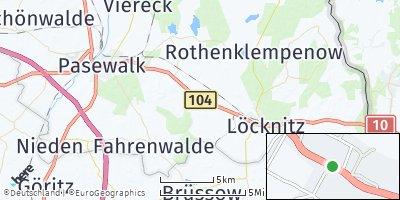 Google Map of Rossow bei Pasewalk