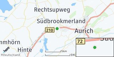 Google Map of Südbrookmerland