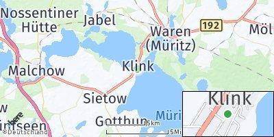 Google Map of Klink bei Waren