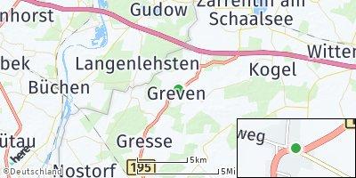 Google Map of Greven bei Boizenburg