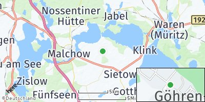 Google Map of Göhren-Lebbin
