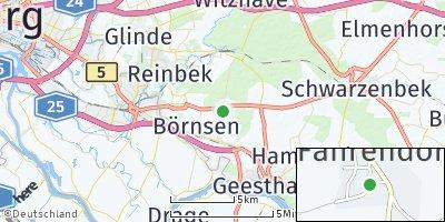 Google Map of Kröppelshagen-Fahrendorf