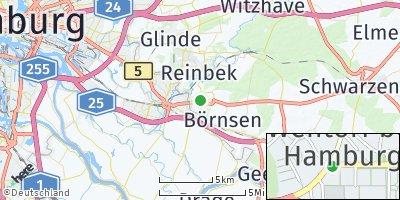 Google Map of Wentorf bei Hamburg
