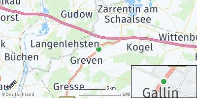 Google Map of Gallin bei Boizenburg