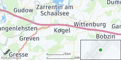 Google Map of Kogel bei Zarrentin