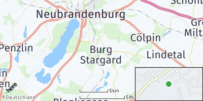 Google Map of Burg Stargard