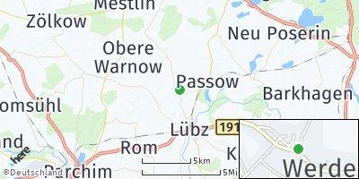 Google Map of Werder bei Lübz