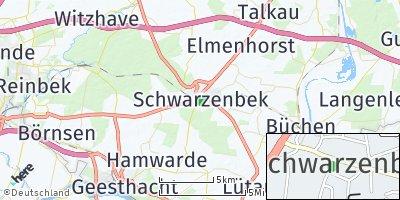 Google Map of Schwarzenbek