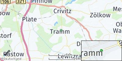 Google Map of Tramm bei Schwerin