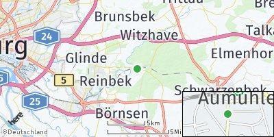 Google Map of Aumühle bei Hamburg