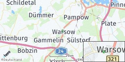 Google Map of Warsow bei Schwerin
